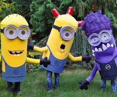Last month the wife and her friends requested some adult minion costumes and here is what resulted. I hope you enjoy. This design gets as close to the movie...