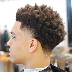 Check out the freshest temp fade haircut trends for men ranging from afro box fades, to mohawk temp fades, crew cuts with line ups, and many more! Black Men Haircuts, Black Men Hairstyles, Hairstyles Haircuts, Trendy Hairstyles, Blonde Hairstyles, Black Curly Hair, Curly Hair Cuts, Short Hair Cuts, Curly Hair Styles