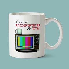 Blur - Coffee & TV - Coffee Mug - Britpop - Retro - Vintage - Modern - Damon Albarn - Music Lyrics - Indie - Alternative - - Typography