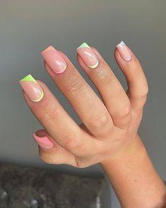 Fabulous Nails, Gorgeous Nails, Pretty Nails, Ombre Nail Designs, Nail Designs Spring, Nail Art Designs, Bling Acrylic Nails, Gel Nails, Spring Nails