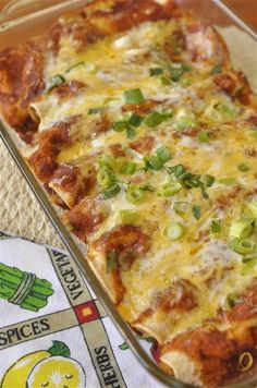 Chicken enchilada.