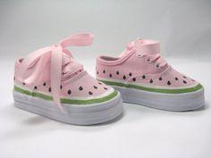 Girl's Watermelon Shoes Children's Hand por boygirlboygirldesign