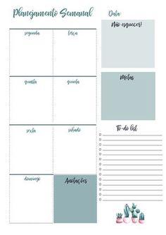 Planner 2019 Calendário Cactos Pdf Feriados Nacionais datas comemorativas download organização planejamento semanal Planners, Study Tips, Planner Stickers, Bujo, Back To School, Bullet Journal, Scrapbook, Lettering, How To Plan