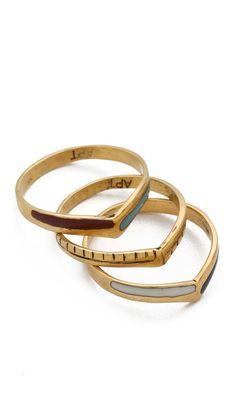 a peace treaty | akhet stacking ring set