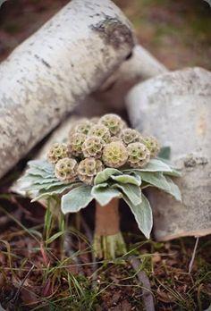 woodsy texture bridal bouquet - def. different!