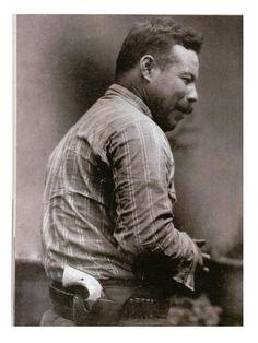 General Pancho Villa.El Centauro del Norte sporting a Pearl handled Colt Bisley.