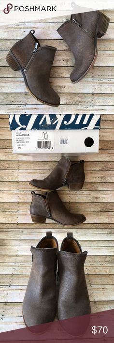 Lucky Brand Bartalino Bootie Lucky Brand Bartalino Bootie IOB. SZ 8 (this style runs 1/2 size small). Color: DK Earth Distressed Wax. No stains, rips, or tears. Some wear on heels, otherwise in great shape. Lucky Brand Shoes Ankle Boots & Booties