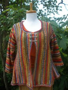 Sock Yarn Sideways Swing Cardigan Knitting von KnittingontheFringe
