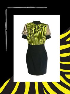 Pre-owned Versace Collection Contrast Skirt Zebra Print Dress Fashion Deals, Women's Fashion, Versace Dress, Ladies Dress Design, Zebra Print, Designer Dresses, Contrast, Skirts, Stuff To Buy