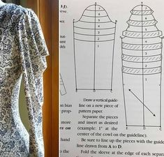 Dress Sewing Patterns, Clothing Patterns, Sewing Clothes, Diy Clothes, Sewing Collars, Sewing Sleeves, Sleeves Designs For Dresses, Fashion Sewing, Pattern Fashion