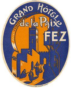 Grand Hôtel de la Paix, Fez #Morocco #Marruecos