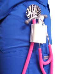 Stethoscope clips by Nurse Born Products are perfect for toting your UltraScope Stethoscope.