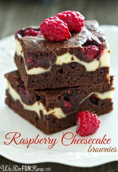 Raspberry Cheesecake Brownies Click Here: http://wedofunhere.com/2013/11/raspberry-cheesecake-brownies/