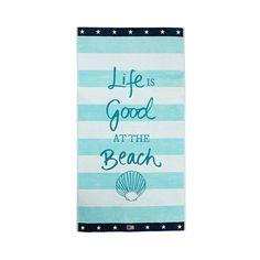 Discover the Lexington 'Life is Good' Beach Towel at Amara