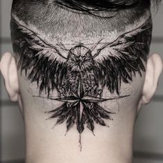 🦅 eagle tattoo deign on head Eagle Head Tattoo, Head Tattoos, Small Tattoos, Cool Tattoos, Random Tattoos, Black Tattoos, Bambi Tattoo, Cat Tattoo, Tattoo Shop