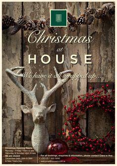 Home - House Dublin Burlap Wreath, Dublin, Ava, Events, Christmas, Poster, House, Design, Xmas