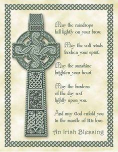 Celtic Cross and Gaelic Blessing Gaelic Blessing, Irish Prayer, Irish Quotes, Irish Sayings, Scottish Sayings, Fun Sayings, Irish Proverbs, Celtic Symbols, Celtic Art