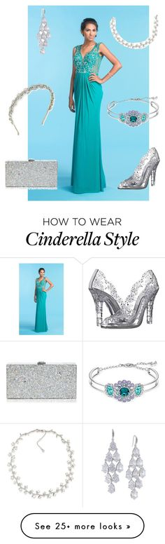 """""""Aqua Prom"""" by angie-davis-miller on Polyvore featuring COYA Collection, Dolce&Gabbana, Milly, Carolee, Swarovski and Jennifer Behr"""