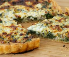 Spinach, Mushroom and Cottage Cheese Quiche for Easter Brunch