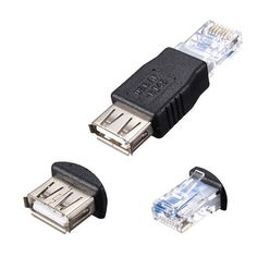 USB Type A Female To RJ45 Male Ethernet Adapter Router Connector Plug Socket Free Shipping H0T0