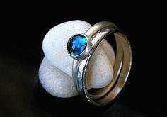 London blue topaz #sormus. London Blue Topaz, Gemstone Rings, Gemstones, Handmade, Jewelry, Hand Made, Jewlery, Gems, Jewerly