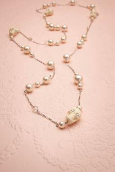 Lubaantun - Tarina Tarantino skull and pearl necklace