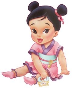 Disney Princess Photo: Little Mulan Disney Princess Babies, Disney Babys, Cute Disney, Disney Girls, Animated Disney Characters, Baby Disney Characters, Disney Movies, Disney Magic, Disney Art