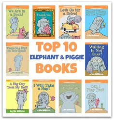 Top 10 Elephant & Piggie Books and a chance to win the newest book The Thank You Book by Mo Willems. #ThankORama #ad