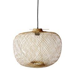 Luminaire - Suspensions - Suspension Bamboo / Ø 42 x H 30 cm - Bloomingville - Naturel - Bambou Bamboo Pendant Light, Bamboo Light, Bamboo Lamps, Luminaire Design, Lamp Design, Design Design, Pendant Lamp, Pendant Lighting, Lighting Sale