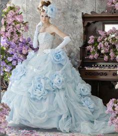 Abiti da sposa blu