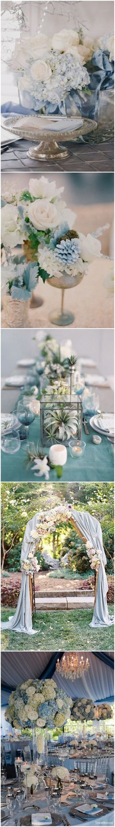 dusty blue wedding ideas -  dusty blue Wedding Decorations