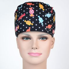 Just Hennar Women Print Surgical Caps Masks 100% Cotton Purple Hospital Surgical Caps Dental Clinic Beauty Salon Workwear Caps Bracing Up The Whole System And Strengthening It Back To Search Resultsnovelty & Special Use Medical