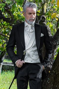 Abito moda uomo fashion nero da cerimonia. Completo ONGala 2177. Collezione  Fashion Formal 2018 1da51c56b43