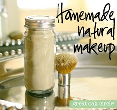 DIY translucent powder with cornstarch, french green clay and cocoa powder.  Awesome!  Have to try this!