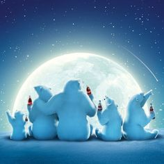Polar bears drink a coke!
