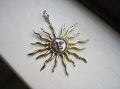 Vintage Sergio Bustamante Mexico Sun Face Silver Pendant Necklace Signed | eBay