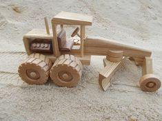 road grader by toymakerofsouthport on Etsy Wooden Toy Trucks, Wooden Car, Woodworking Toys, Woodworking Projects, Wood Crafts, Diy And Crafts, Gomme Laque, Cardboard Car, Wood Toys Plans