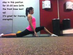Front splits and Needle Scale training. Stretches for flexibility