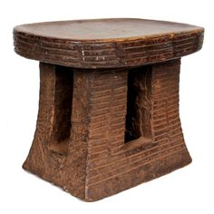 African Tribal Cameroon Grasslands Wood carved stool 20th Century | From a unique collection of antique and modern stools at https://www.1stdibs.com/furniture/seating/stools/