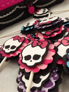 Monster High Cupcake Toppers. $11.00, via Etsy.
