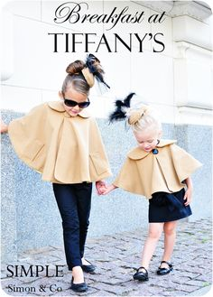 Breakfast at Tiffany's outfits - I'd love to recreate this for my little one!