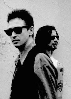 Dave Gahan of Depeche Mode with Alan Wilder