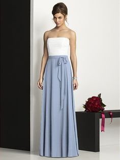 bridesmaid dresses-love the idea of having everyone have the same two-tone dress