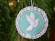 Dove Christmas Tree Ornament Free Pattern