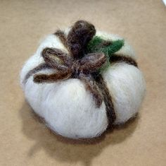 Check out this item in my Etsy shop https://www.etsy.com/listing/251634083/white-wool-felted-pumpkin