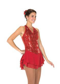 Dresses - Red Dresses - FigureSkatingStore