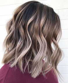 Ombre Hair Color, Hair Color Balayage, Brown Hair Colors, Blonde Ombre, Copper Balayage, Hair Colour, Balayage Hair Brunette Medium, Beige Blonde, Platinum Blonde