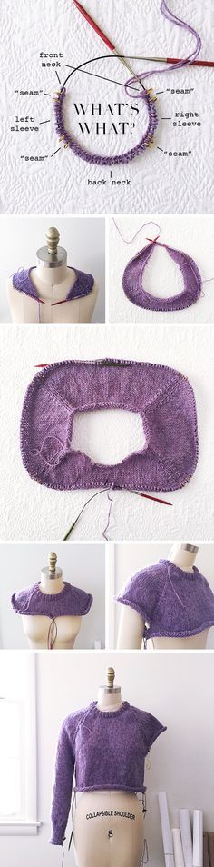 HOW TO IMPROVISE A TOP-DOWN SWEATER — everything you need to know!