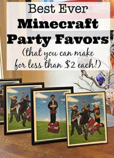 Fantastic ideas for hosting a Minecraft birthday party at home! This post includes free printable Minecraft party invitations, ideas for Minecraft party games and snacks, and Minecraft party thank you notes! Birthday Party At Home, Birthday Party Games For Kids, Boy Party Favors, Birthday Activities, Fun Party Games, Minecraft Birthday Party, Kids Party Themes, Birthday Party Themes, Party Ideas