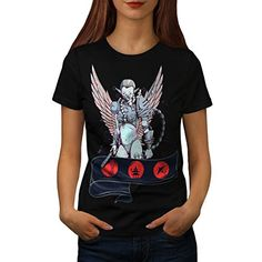 Angelic Lady Warrior Angel Girl Women NEW L Tshirt  Wellcoda >>> Want additional info? Click on the image.